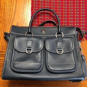 Dooney and Bourke double pocket tote navy